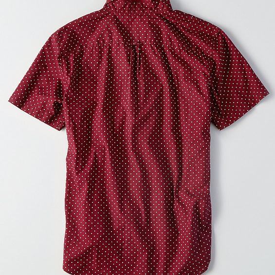 AEO Print Short Sleeve Poplin Shirt