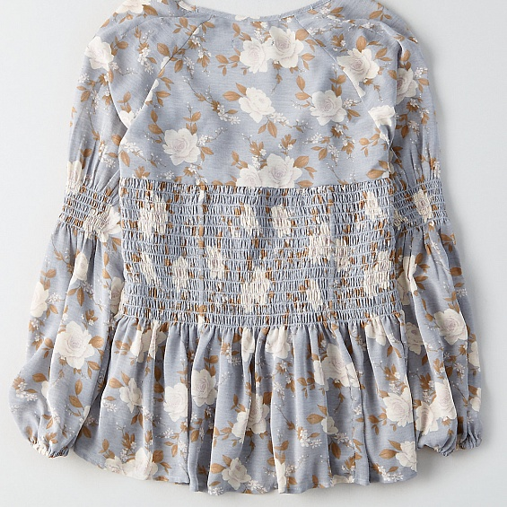 AEO Smocked Flowy Top